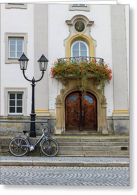 City Scene Passau Germany Greeting Card by Tom Norring