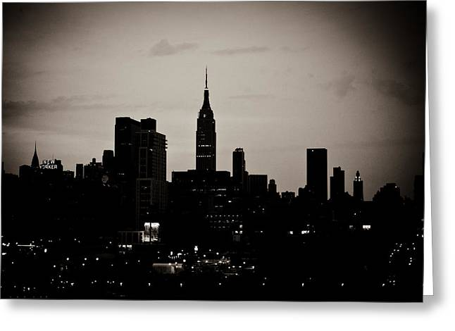 Greeting Card featuring the photograph City Silhouette by Sara Frank