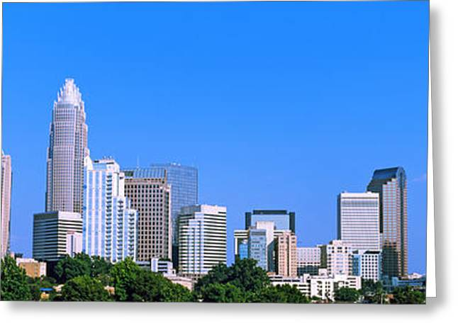 City Skyline, Charlotte, Mecklenburg Greeting Card
