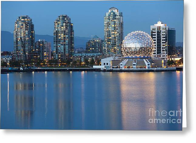 City Skyline -vancouver B.c. Greeting Card
