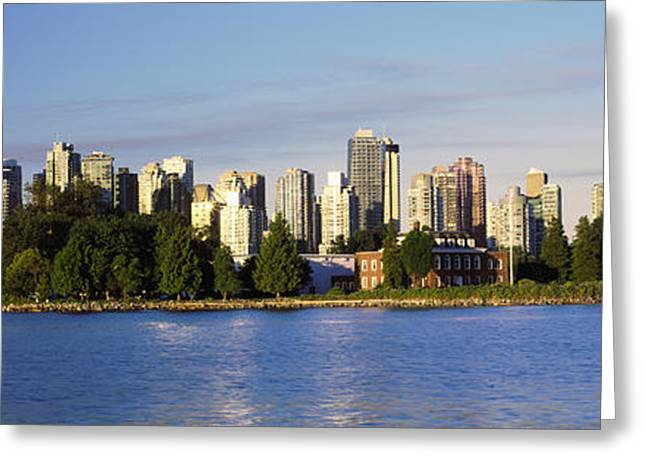 City Skyline, Vancouver, British Greeting Card by Panoramic Images