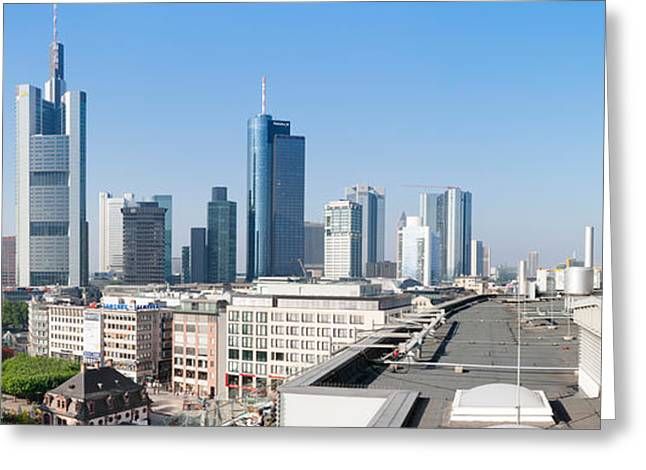 City Skyline With St. Catherines Church Greeting Card by Panoramic Images