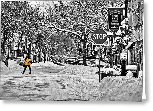 City Snowstorm Greeting Card