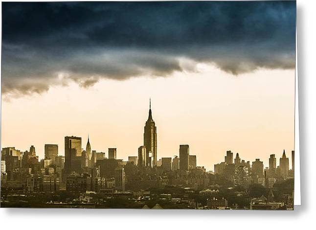 City Storm Greeting Card