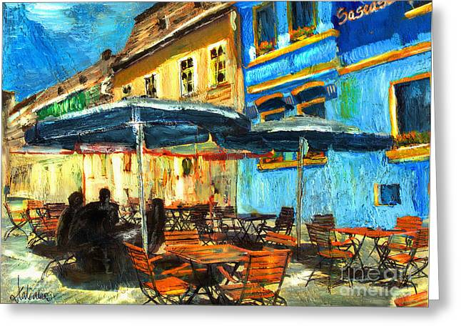 City Street Cafe Greeting Card