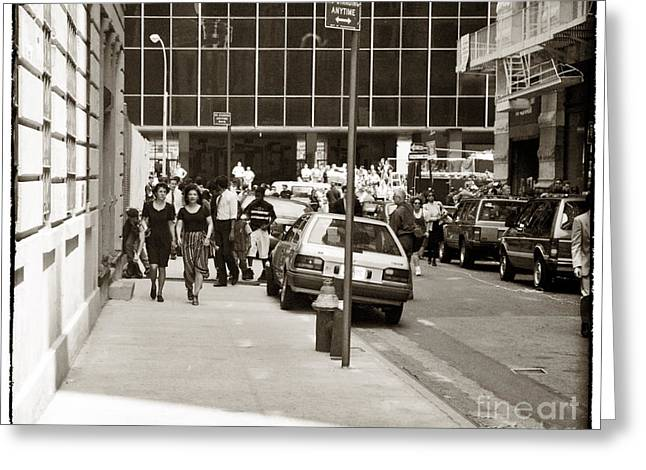 City Streets 1990s Greeting Card by John Rizzuto