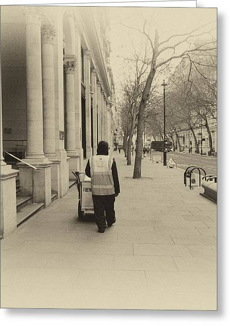 City Streets 2 Greeting Card by Sharon Lisa Clarke