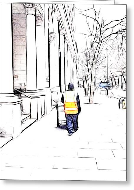 City Streets 3 Greeting Card by Sharon Lisa Clarke
