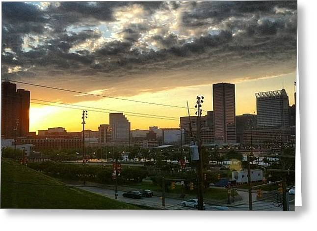 Greeting Card featuring the photograph City Sunset Over Me by Toni Martsoukos
