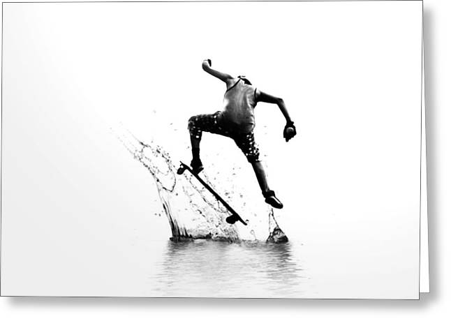 City Surfer Greeting Card