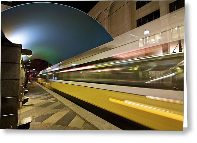 Greeting Card featuring the photograph City Transit by John Babis