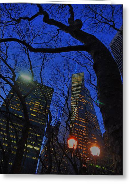 City Tree Greeting Card by Emily Stauring