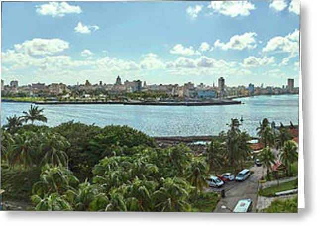 City View From Morro Castle, Havana Greeting Card