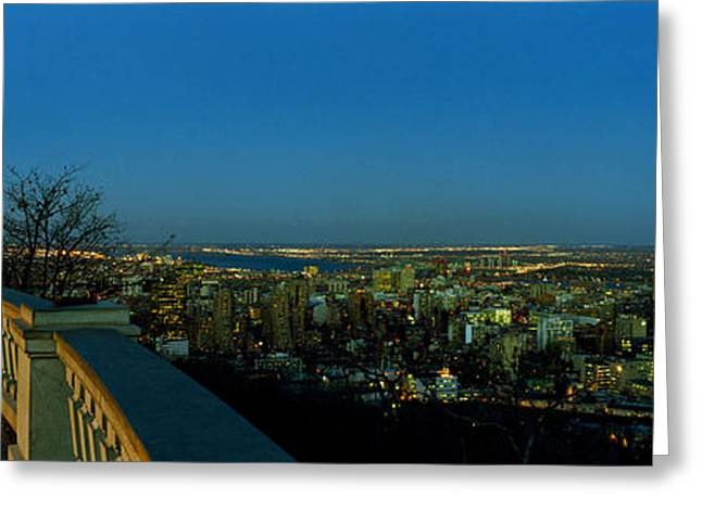 City Viewed From An Observation Point Greeting Card by Panoramic Images