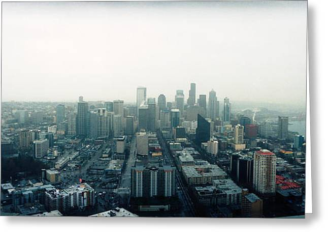 City Viewed From The Space Needle Greeting Card by Panoramic Images