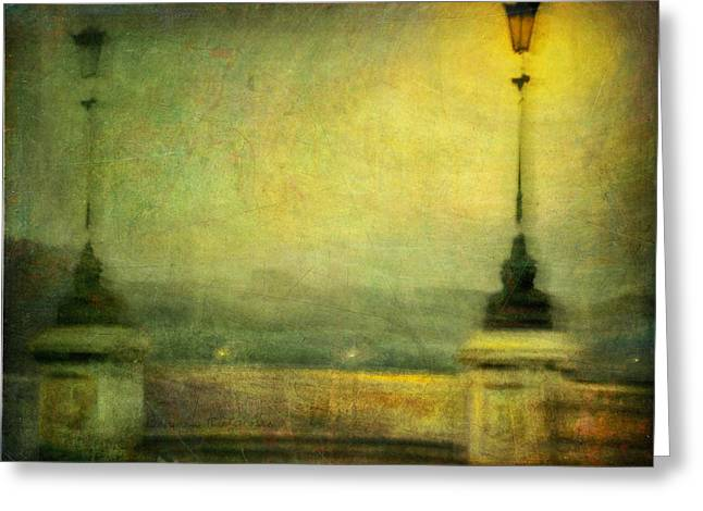 Greeting Card featuring the photograph Cityscape #29. Parisienne Walkways by Alfredo Gonzalez