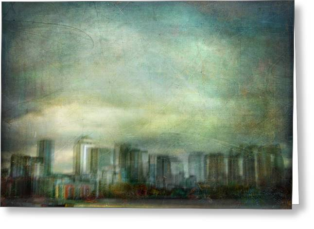 Greeting Card featuring the photograph Cityscape #32. Chrystalhenge by Alfredo Gonzalez