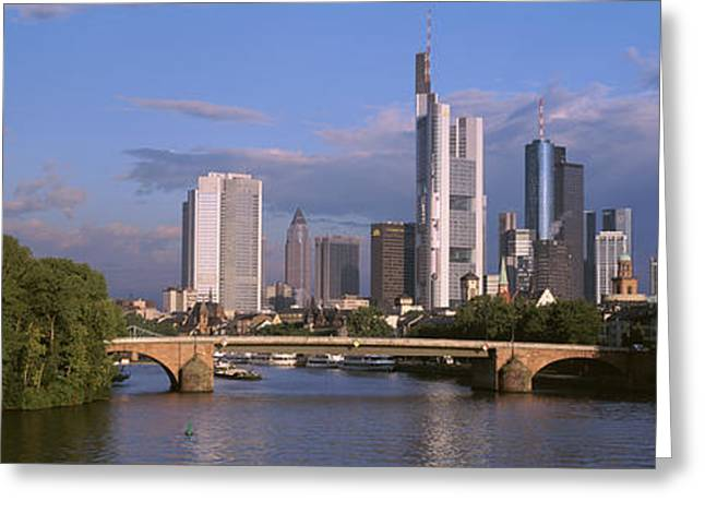 Cityscape, Alte Bridge, Rhine River Greeting Card by Panoramic Images