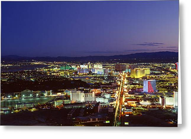 Cityscape At Night, The Strip, Las Greeting Card