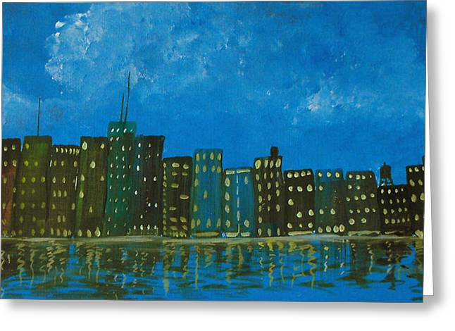 Cityscape Greeting Card by Estefan Gargost