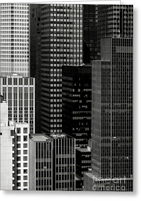 Cityscape In Black And White Greeting Card by Diane Diederich