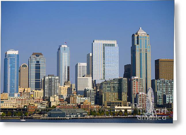 Cityscape Of Seattle Greeting Card