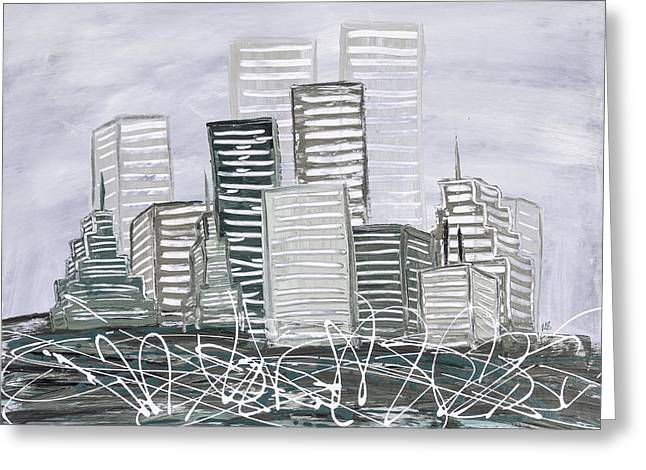 Cityscape Sage Greeting Card