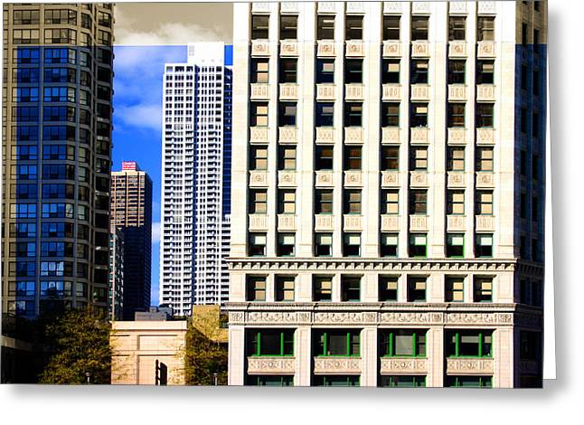 Cityscape Windows Greeting Card