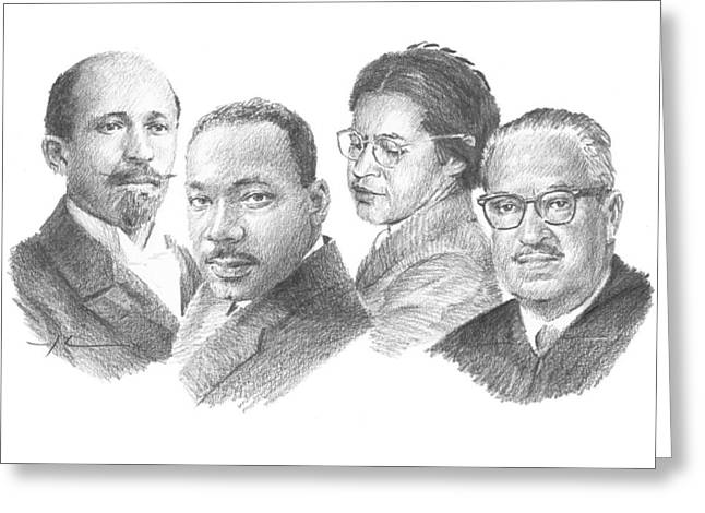 Civil-rights Icons Greeting Card