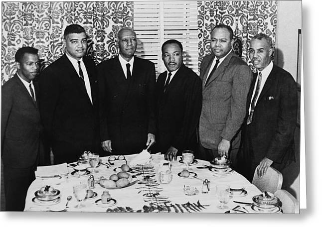 Civil Rights Leaders, 1963 Greeting Card
