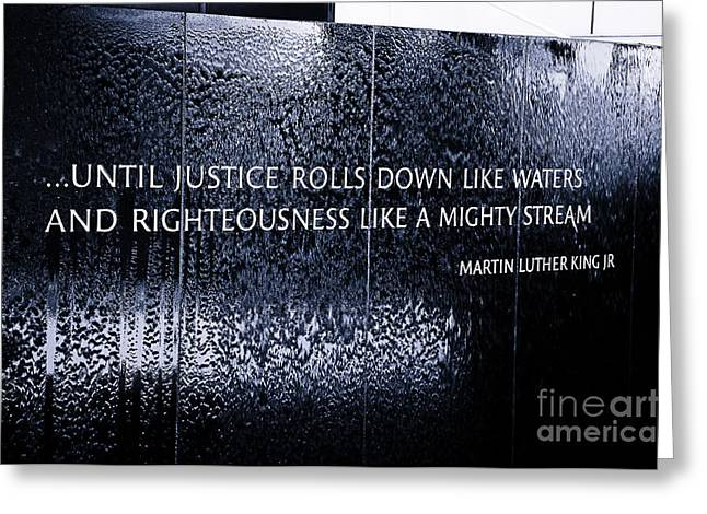 Civil Rights Memorial Greeting Card by Danny Hooks