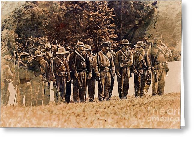 Civil War # 3 Greeting Card by Marcia Lee Jones