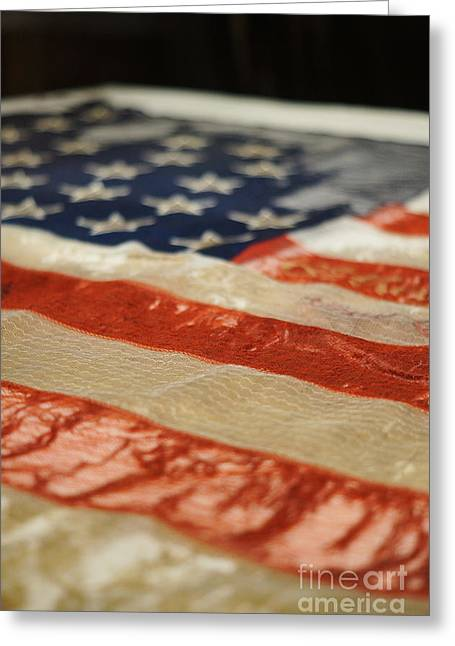 Civil War Battle Flag Greeting Card by Shawn Smith