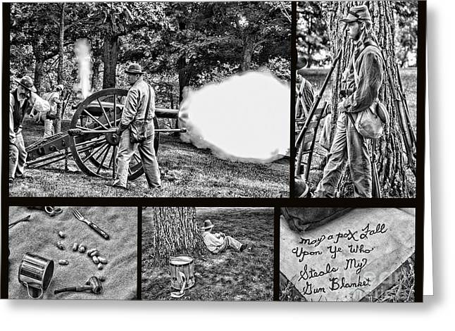Greeting Card featuring the photograph Civil War Collage by Geraldine DeBoer
