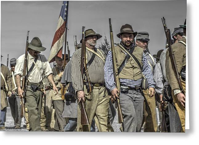 civil war confederate Troops v5 Greeting Card