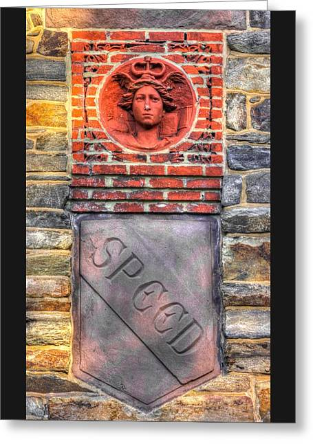 Civil War Correspondents Arch Detail B - South Mountain Battlefield - Gathland State Park Md Greeting Card by Michael Mazaika