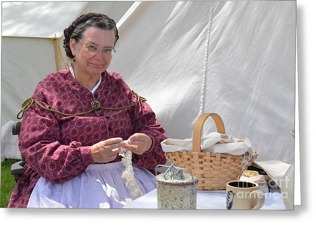 Civil War Era Reenactor Tatting Greeting Card