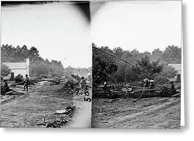 Civil War Field Hospital Greeting Card by Granger