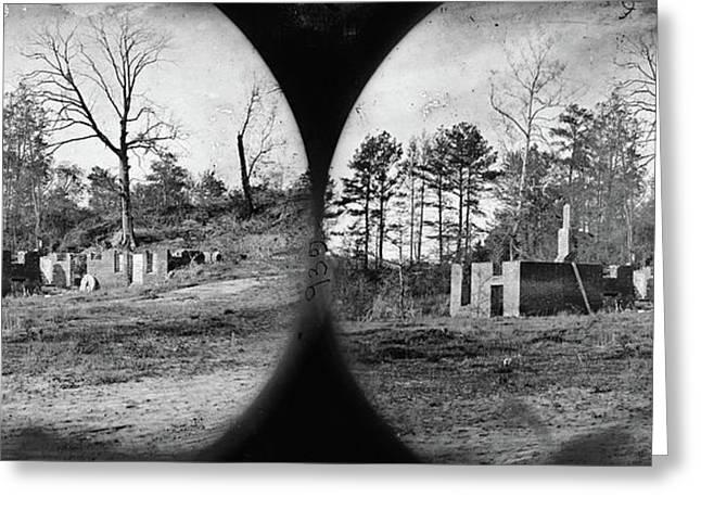 Civil War Mill Ruins Greeting Card by Granger