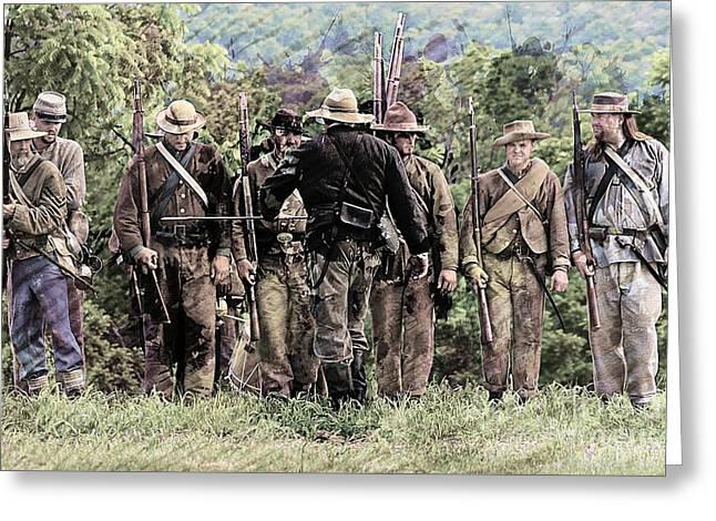 Civil War No 2 Greeting Card by Marcia Lee Jones