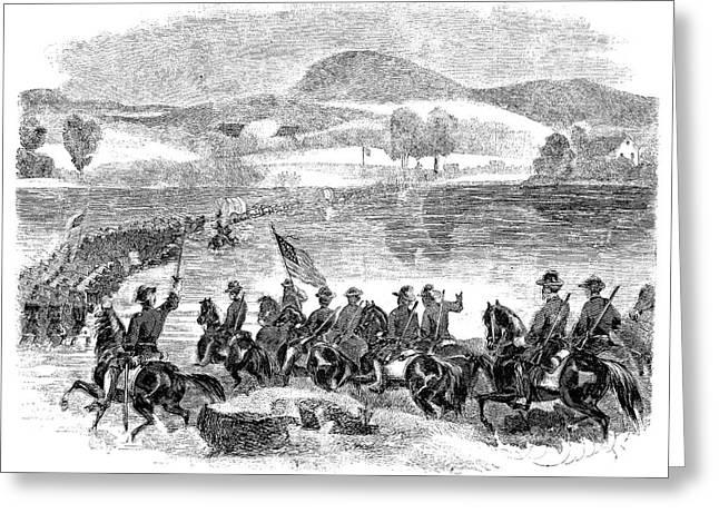 Civil War Potomac, 1861 Greeting Card