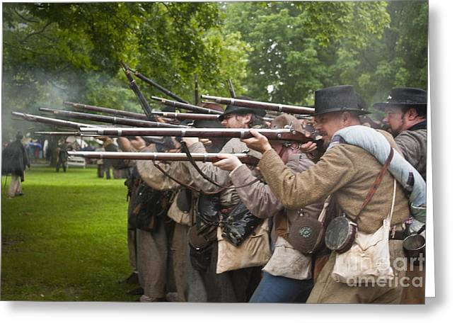 Civil War Reenactment 1 Greeting Card