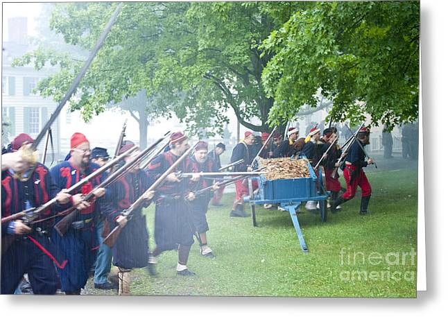 Civil War Reenactment 2 Greeting Card