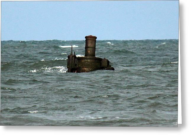 Civil War Shipwreck Greeting Card by Brian M Lumley