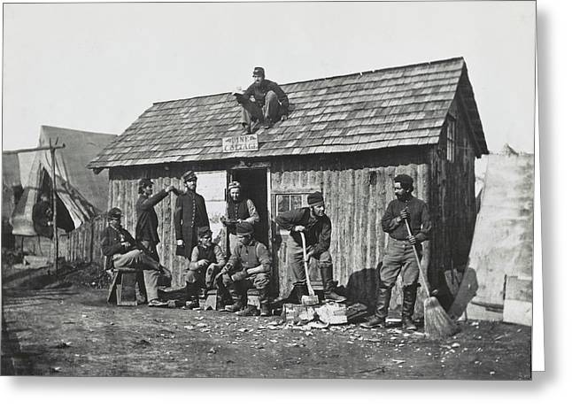 Civil War Soldiers In Front Greeting Card