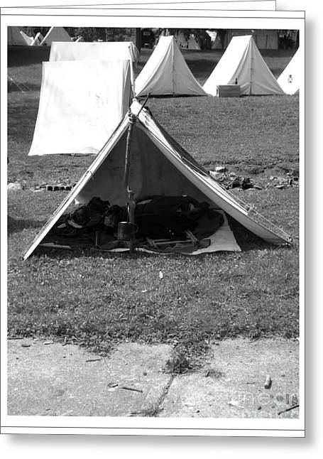 Civil War Tents Greeting Card by Sara  Raber