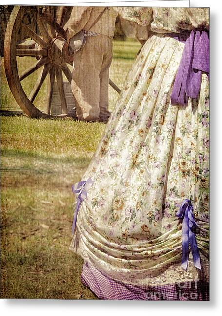 Civil War Woman And Soldier  Greeting Card