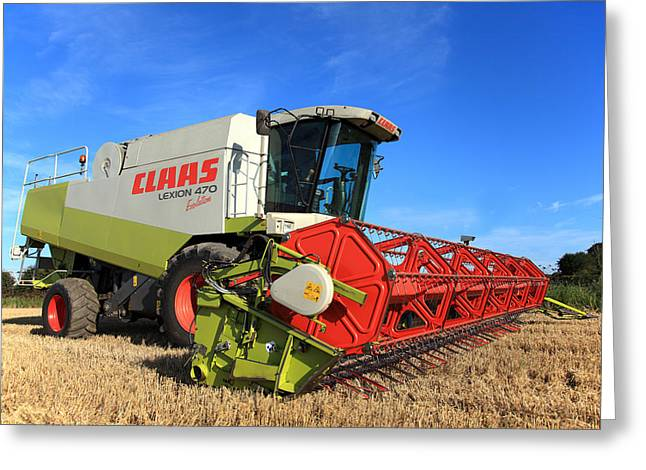Claas Lexion 470 Evolution Combine Harvester Greeting Card by Paul Lilley