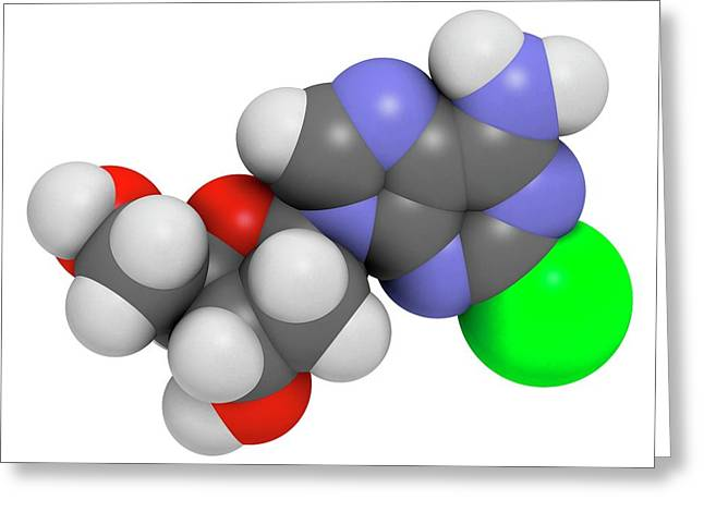 Cladribine Cancer Drug Molecule Greeting Card by Molekuul