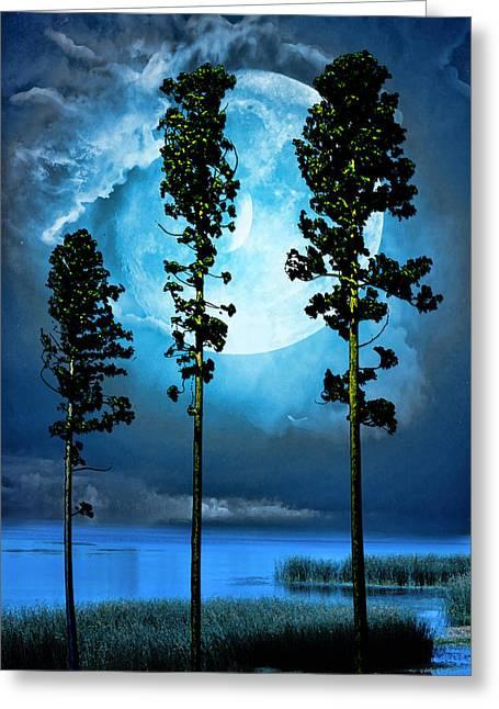 Clair De Lune Greeting Card